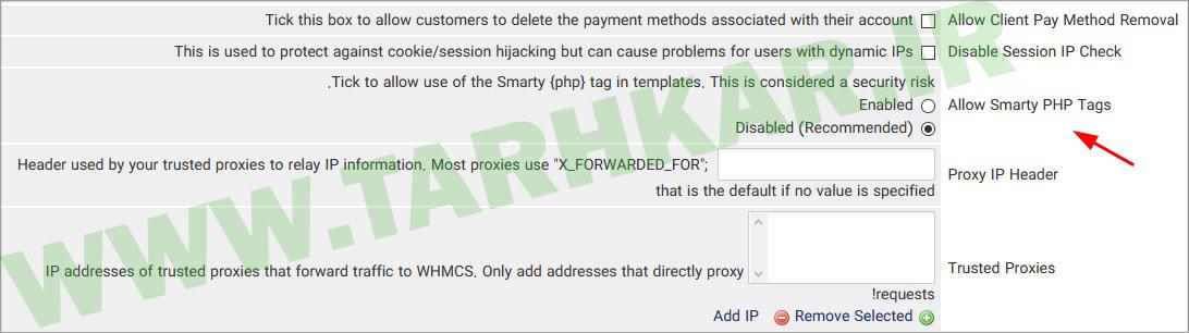 php on whmcs template - نحوه فعال سازی استفاده از php در قالب whmcs